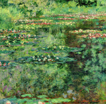 The Waterlily Pond, 1904 of artist Claude Monet as framed image
