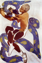 Leon Bakst - 'L'Apres Midi d'un Faune', costume design for Nijinsky (1890-1950) from 'l'Art Decoratif de Leon Bakst' by Arsene Alexandre (185
