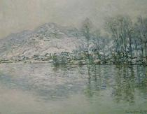 Claude Monet - The Seine at Port Villez in Winter, 1885