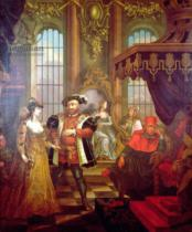 William Hogarth - Henry VIII (1491-1547) introducing Anne Boleyn at court