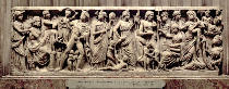 Anonymous - Sarcophagus with relief depicting Prometheus and the Creation of Man, Roman, from Arles, 3rd century AD