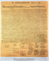 American School - Declaration of Independence of the 13 United States of America of 1776, 1823