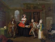 William Hogarth - Marriage a la Mode: III - The Inspection, c.1743