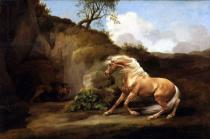 George Townley Stubbs - A Horse Frightened by a Lion, c.1790-5