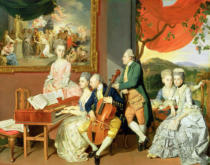 Zoffany Zoffany - George, 3rd Earl Cowper, with the Family of Charles Gore, c.1775