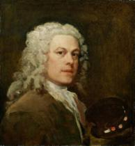 William Hogarth - Self Portrait, c.1735-40