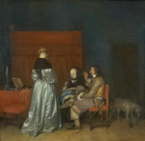 Gerard ter Borch - Gallant Conversation, also known as 'The Paternal Admonition', c.1654