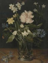 Jan Brueghel der Ältere - Still Life with Flowers in a Glass, 1630