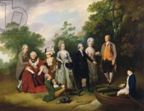 Francis Wheatley - The Oliver and Ward Families in a Garden, c.1788