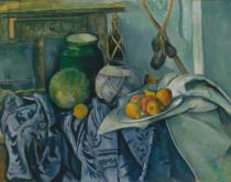Paul Cézanne - Still Life with Ginger Pot and Aubergine, 1890
