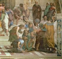 Raphael - Detail of School of Athens, from the Stanza della Segnatura, 1510-11