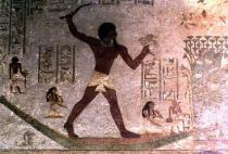 Unbekannt - Wildfowling in the Marshes, detail from a wall painting in the tomb of Khnumhotep III, Egyptian, Old to Middle Kingdom, c.1900 B