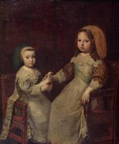 Charles Beaubrun - King Louis XIV (1638-1715) as a child with Philippe I, Duke of Orleans (1640-1701)