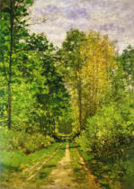 Claude Monet - Wooded Path, 1865