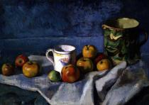 Paul Cézanne - Still Life with Apples, Cup and Pitcher