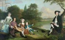 Arthur William Devis - A family of Anglers, 1749