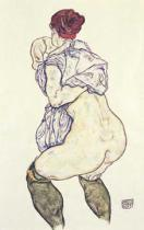 Egon Schiele - Woman Undressing, 1917