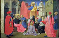 Fra Angelico - St. Peter Preaching, predella from the Linaiuoli Triptych, 1433