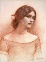 John William Waterhouse - Study for 'The Lady Clare', c.1900