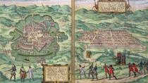 Joris Hoefnagel - Map of Mexico and Cuzco, from 'Civitates Orbis Terrarum' by Georg Braun (1541-1622) and Frans Hogenberg (1535-90), c.1572