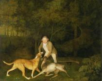 George Townley Stubbs - Freeman, the Earl of Clarendon's Gamekeeper, With a Dying Doe and Hound, 1800