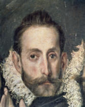 El Greco - Self Portrait, detail from The Burial of Count Orgaz, 1586-88