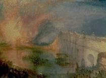 Joseph Mallord William Turner - The Burning of the Houses of Parliament, 16th October 1834, c.1835