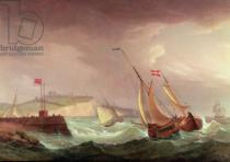 Thomas Whitcombe - Shipping off Dover