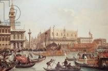 Giuseppe Bernardino Bison - View of the Doge's Palace and the Piazzetta, Venice
