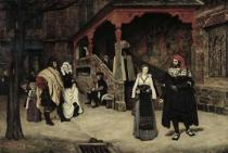 James Jacques Joseph Tissot - The Meeting of Faust and Marguerite, 1860