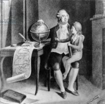 French School - Louis XVI teaching geography to the Dauphin