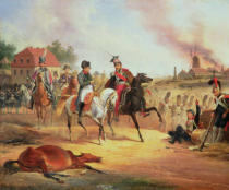 January Suchodolski - Napoleon and Prince Joseph Poniatowski at the Battle of Leipzig, 19th October 1813, 1837