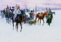 Jan van Chelminski - Napoleon's Troops Retreating from Moscow, 1888-89