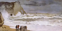 Claude Monet - Rough Sea at Etretat, 1868-69