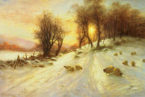 Joseph Farquharson - Sheep in Winter Snow