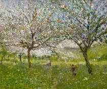 Ernest Quost - Apple Trees in Flower