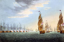 Thomas Whitcombe - Battle of the Nile, August 1st 1798, engraved by Thomas Sutherland for J. Jenkins's 'Naval Achievements', 1816