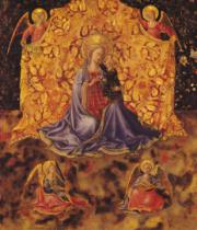 Fra Angelico - Madonna of Humility with Christ Child and Angels