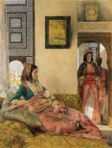 John Frederick Lewis - Life in the harem, Cairo