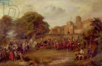 George Cattermole - Visit of King James I to Hoghton Tower in 1617