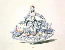 French School - Opera Costume, from the Menus Plaisirs Collection, facsimile by A. Guillaumot Fils