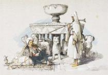 John Frederick Lewis - The Fountain of the Lions, Vignette from 'Sketches and Drawings of the Alhambra', 1835