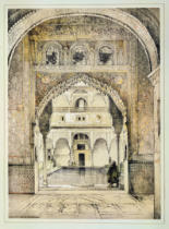 John Frederick Lewis - Door of the Hall of Ambassadors, from 'Sketches and Drawings of the Alhambra', engraved by William Gauci (fl.1825-54), 1835