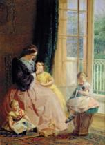George Elgar Hicks - Mrs. Hicks, Mary, Rosa and Elgar