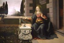 Leonardo da Vinci - Virgin Mary, from the Annunciation, 1472-75