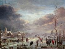 Aert van der Neer - Landscape in Winter