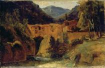 Karl Blechen - Mill in the valley near Amalfi, 1829