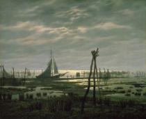 Caspar David Friedrich - Marshy Beach