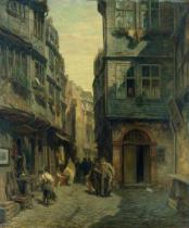 Anton Burger - The Jewish Quarter in Frankfurt, 1883
