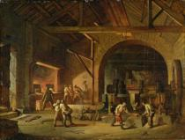 Godfrey Sykes - Interior of an Ironworks, 1850